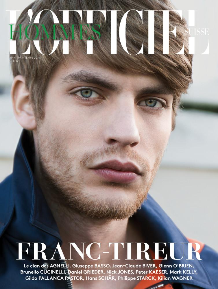 Baptiste Radufe for the cover of L'Officiel Hommes Switzerland
