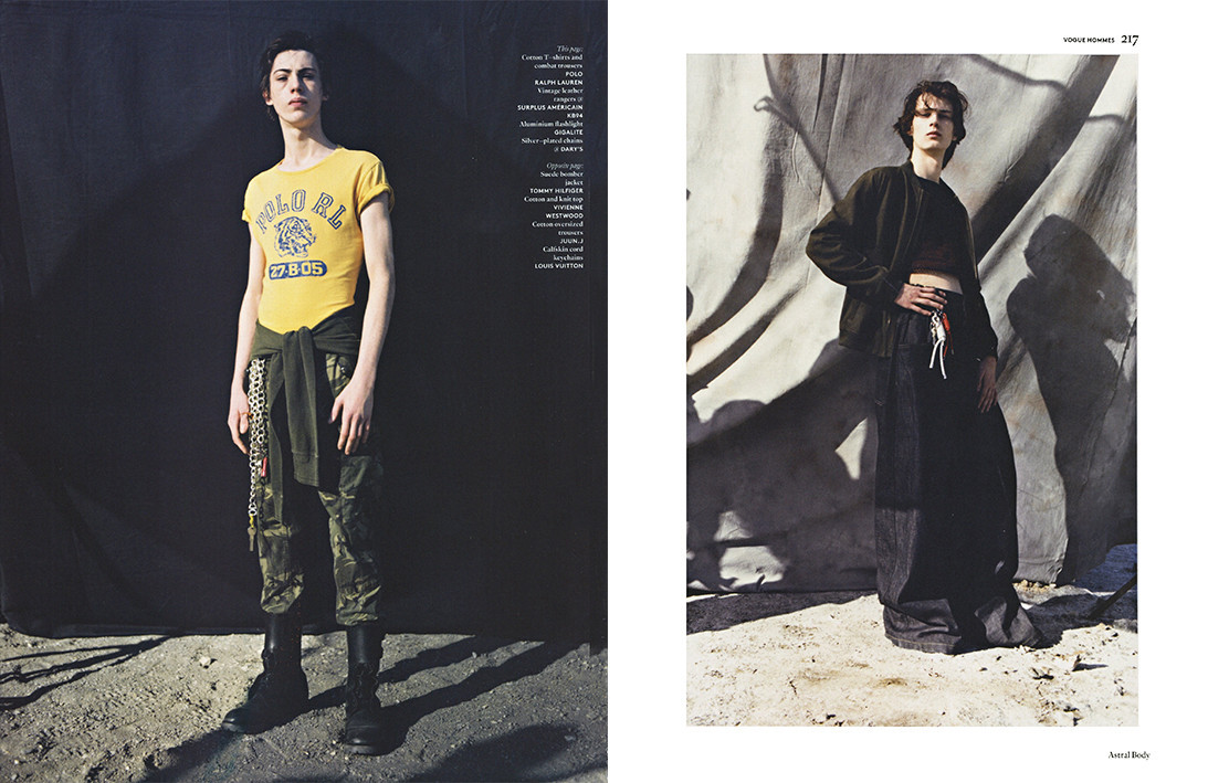 Matthieu Villot and Ross Stechman for Vogue Hommes