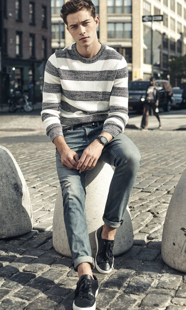 Francisco Lachowski for Express key spring styles