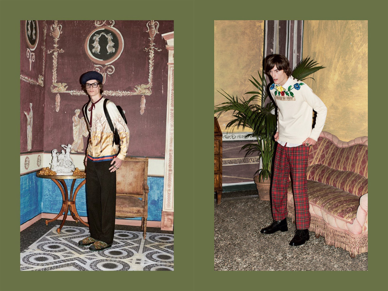 Laurie Harding, Tim Dibble and Jack Chambers for Gucci PRE-FALL 2016