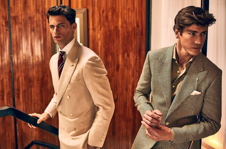 Garrett Neff and Oriol Elcacho for Massimo Dutti summer tailoring 2016