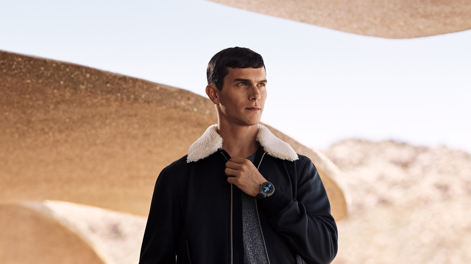 Louis Vuitton Tambout Horizon timepiece campaign