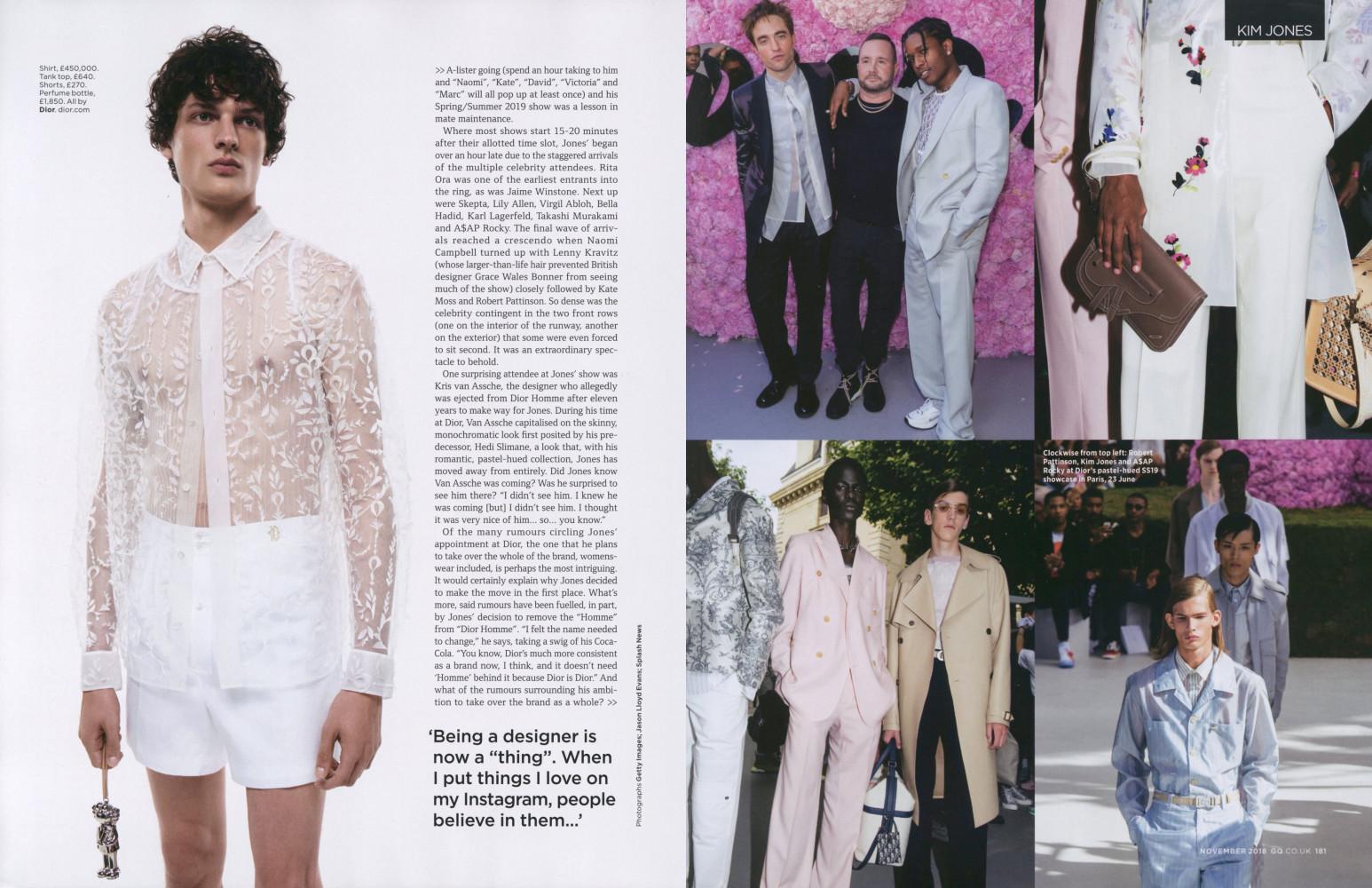 Valentin Caron Kim Jones Dior British GQ