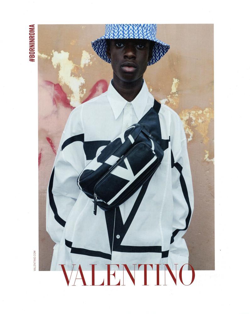 Yacine Keita by Juergen Teller for Valentino SS19 campaign