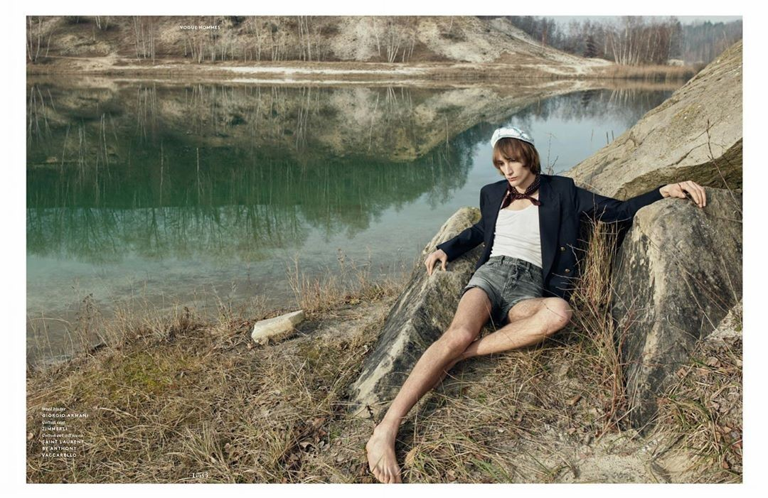 Thomas Riguelle by Willy Vanderperre for Vogue Hommes