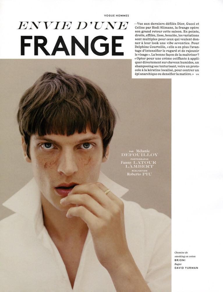 Vogue Hommes Valentin Caron September 2020