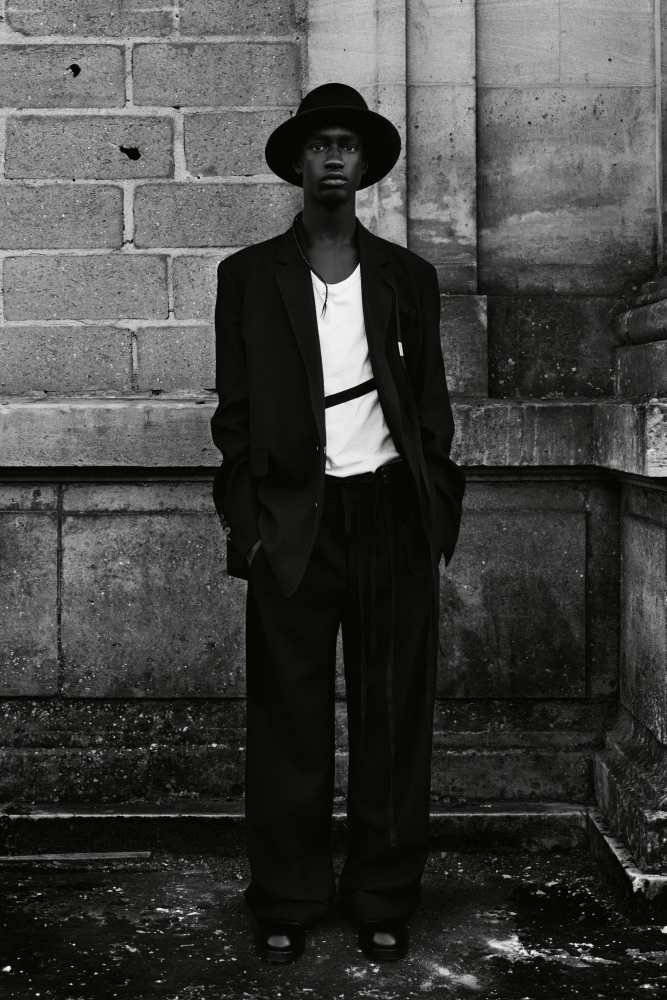 Mohamadou Diakhite Ann Demeulemeester fall winter 2021.22 fashion show
