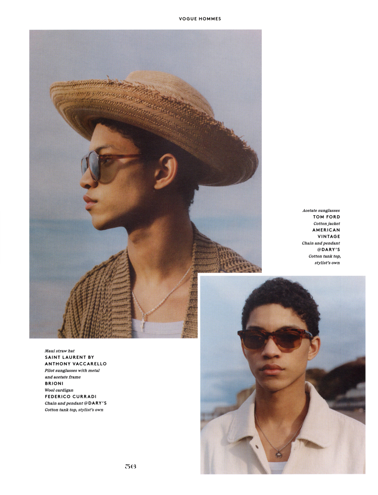 Jeranimo Van Russel for Vogue Hommes issue 33 spring summer
