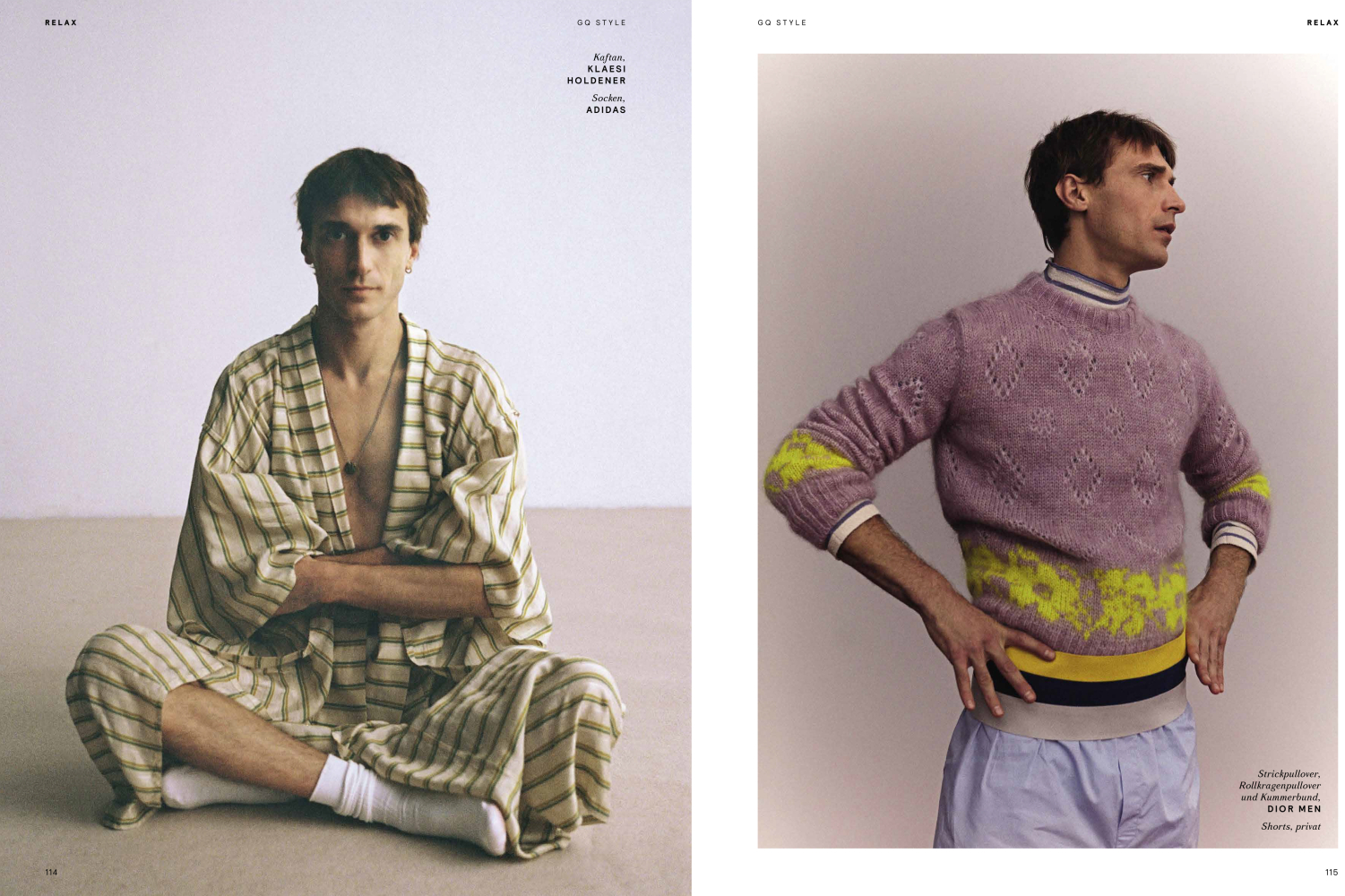 Clément Chabernaud by Jana Gerberding styled by Isabelle Thiry Relax story GQ style March 2021
