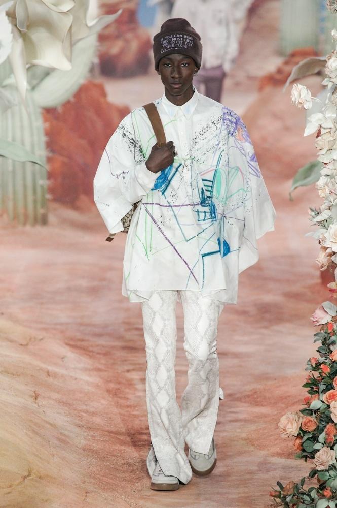 Jean Luc Ndjoli PFW Dior ss22