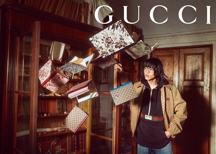 akito mizutani for gucci lifestyle campaign