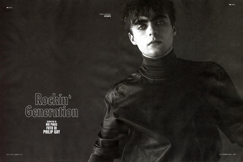 Lennon Gallagher for gq italia rockin' generation