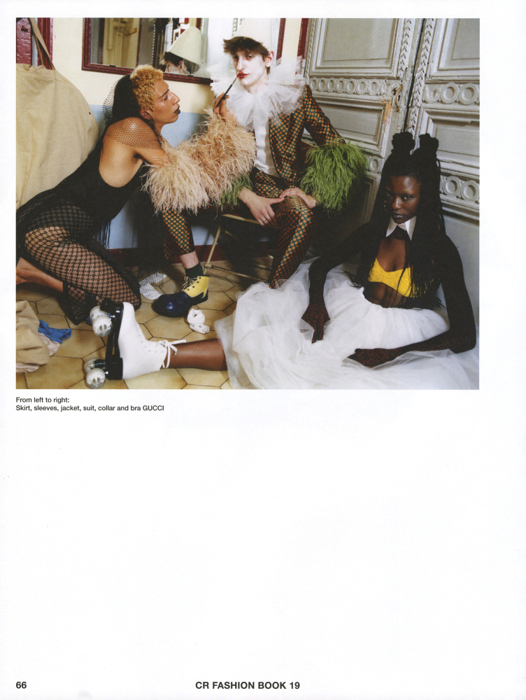 Sonia Ichti, Dourane Fall and Theodor Pal  for cr fashion magazine