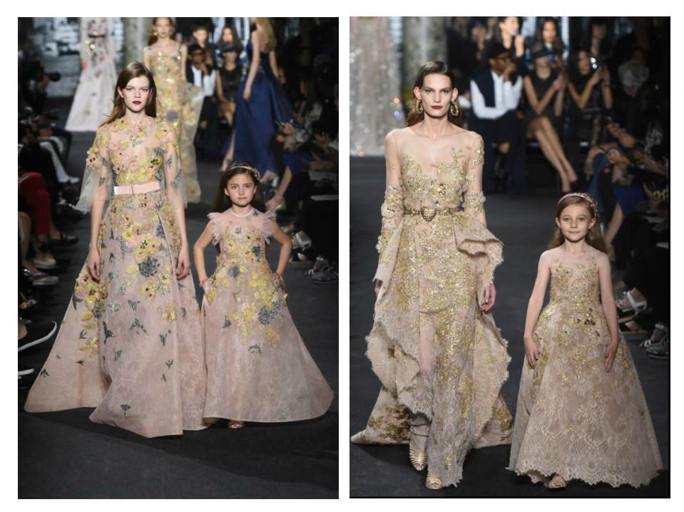 Zoé et Juliette pour le défilé Elie Saab Haute Couture Automne Hiver 2016