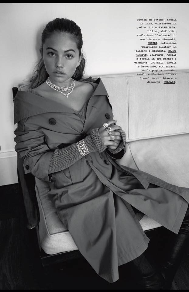 Thylane pour Marie Claire Italia octobre 2016