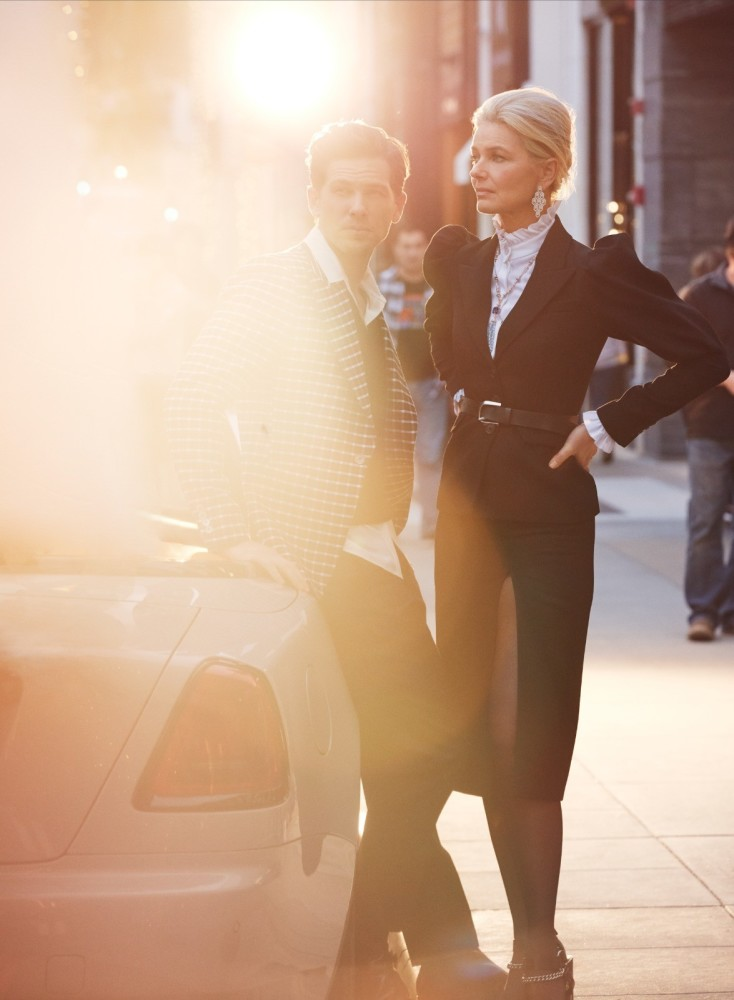 Paulina Porizkova for Harper's Bazaar US shot by Alexi Lubomirski
