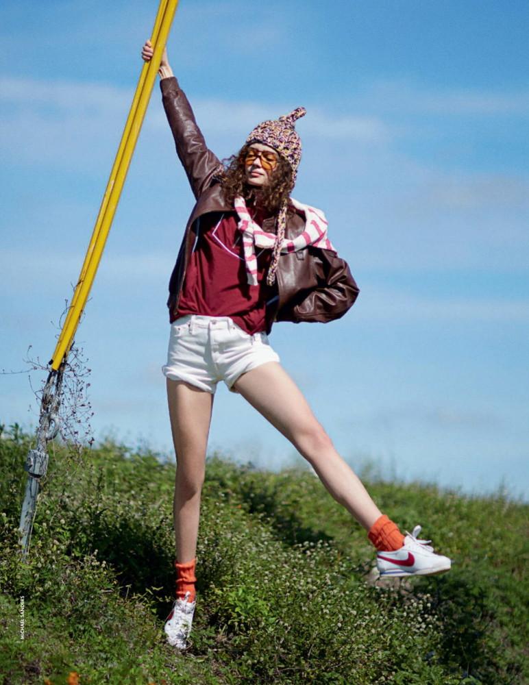 Sasha Kichigina for Elle Italia shot by Michael Sanders