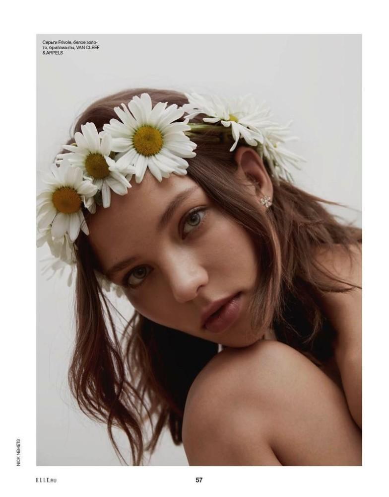 Alesya Kaf for Elle Russia shot by Nick Nemets