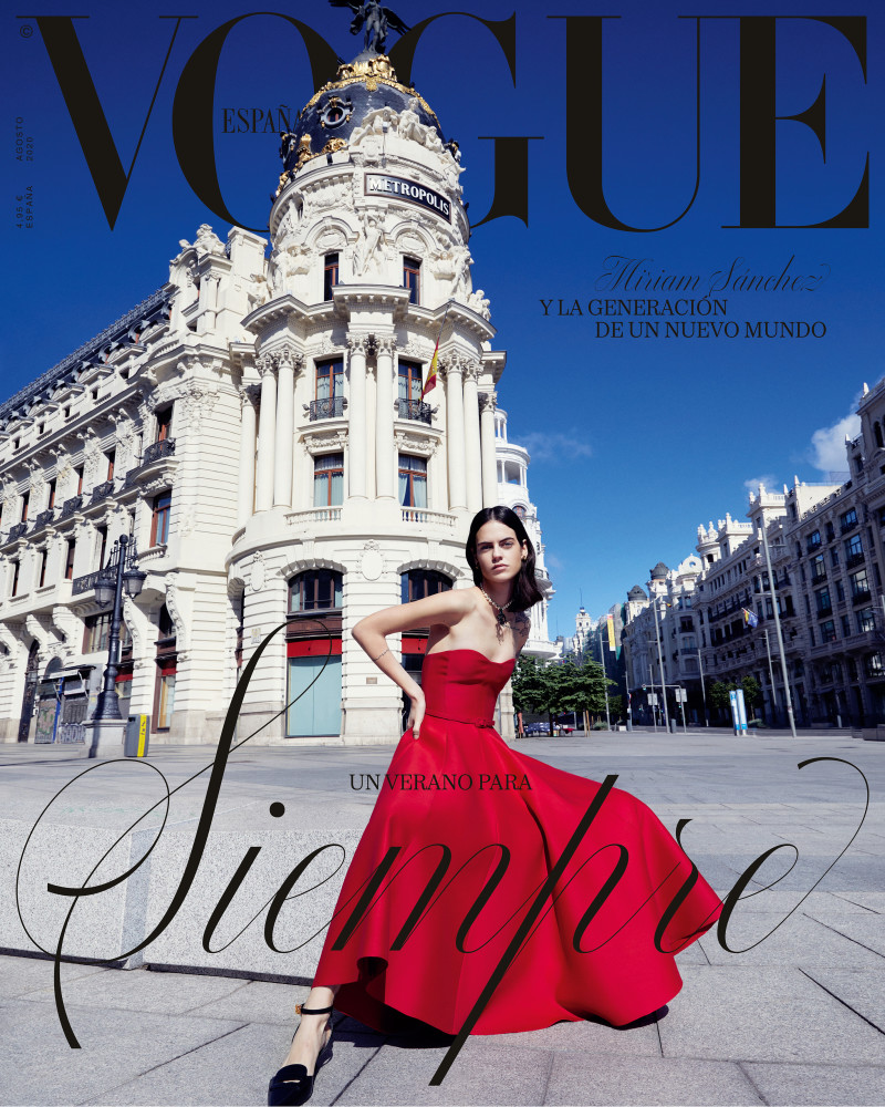 Miriam Sanchez for the cover of Vogue Spain shot by Miguel Reveriedo