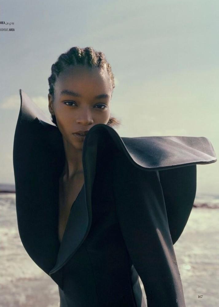 Kyla Ramsey for Vogue Arabia shot by Sharif Hamza