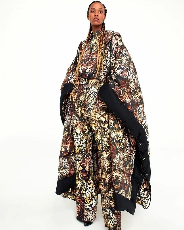 Leila Nda for Roberto Cavalli F/W '21 Collection