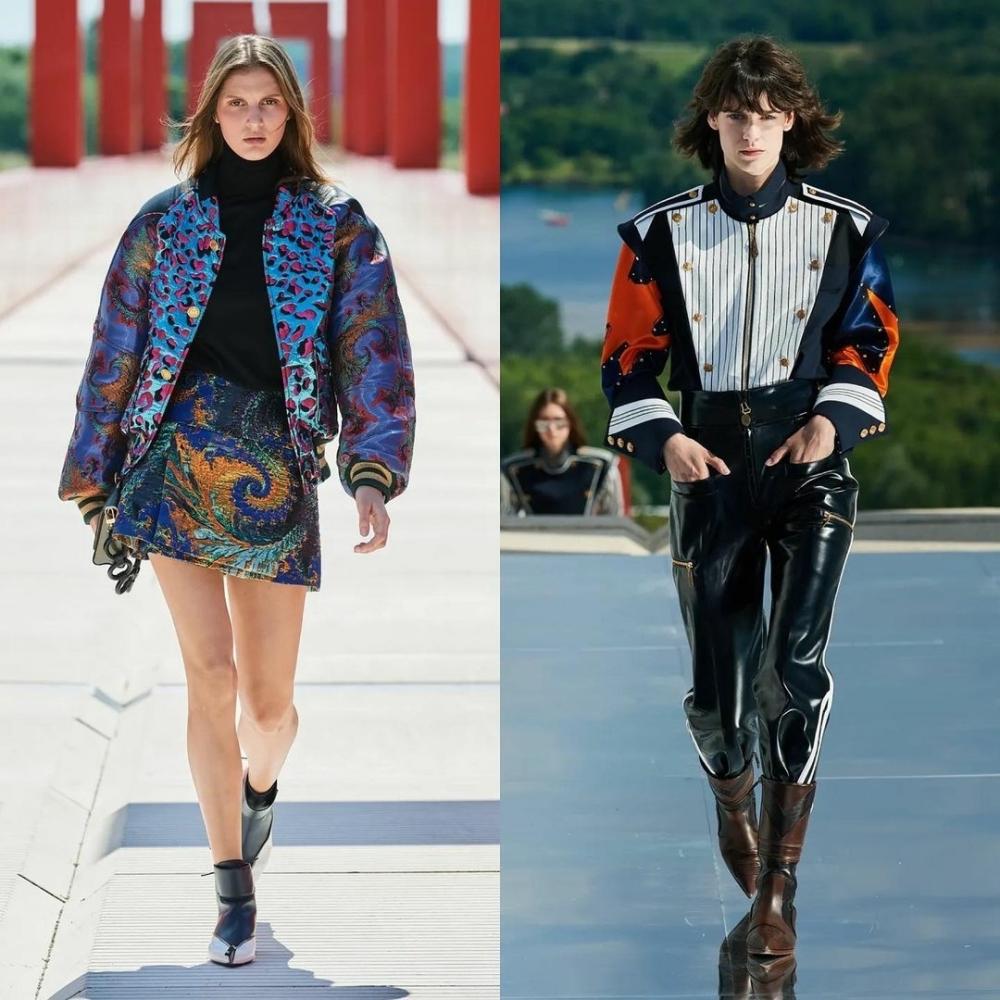 Maria Cosima & Miriam Sanchez for Louis Vuitton Resort 2022 Show Cergy