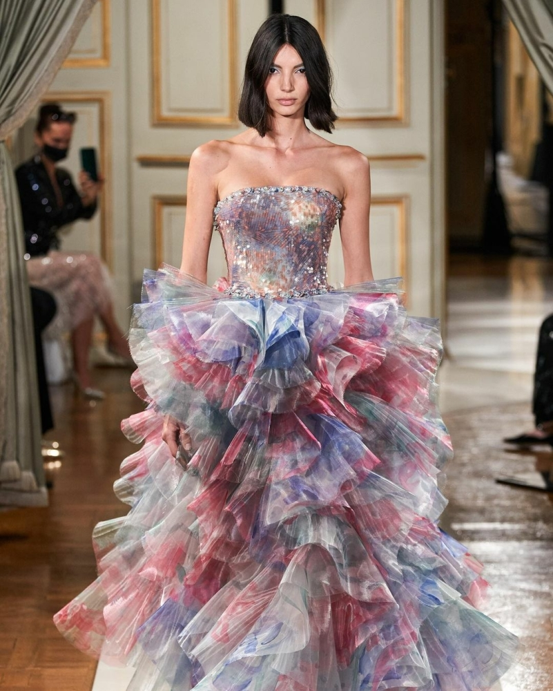 Cynthia Arrebola for Armani Privé Haute Couture Fall 2021 Show