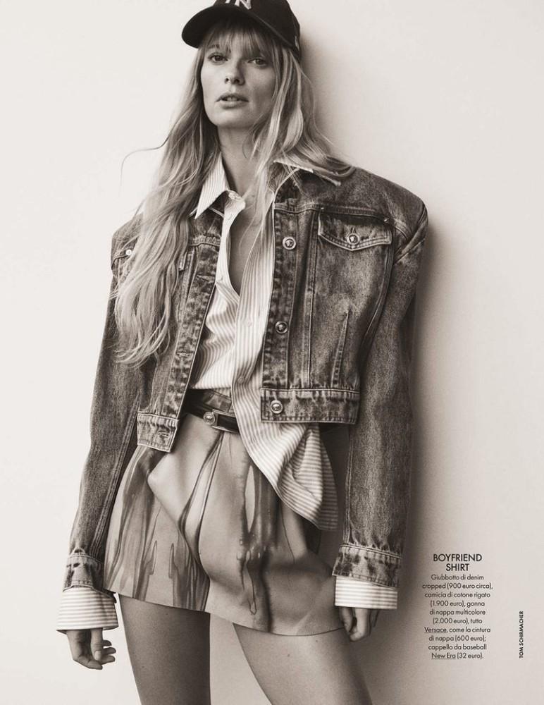 Julia Stegner for Elle Italia shot by Tom Schirmacher