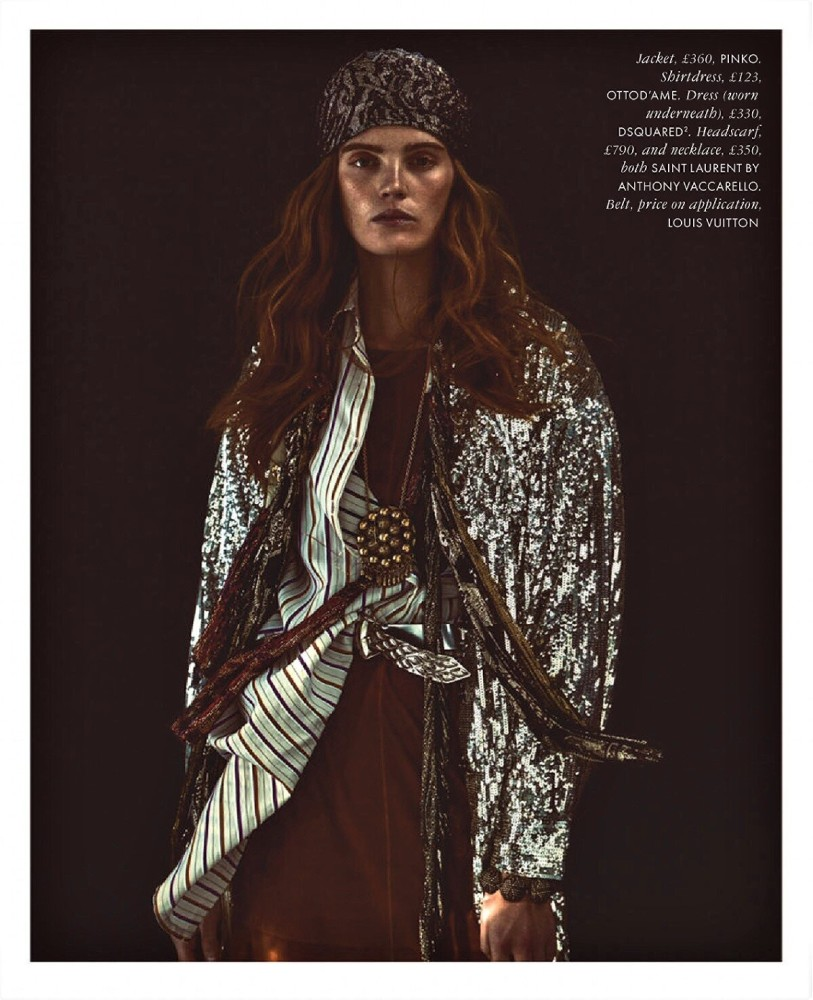 Alexina Graham for Elle UK shot by Andreas Sjodin