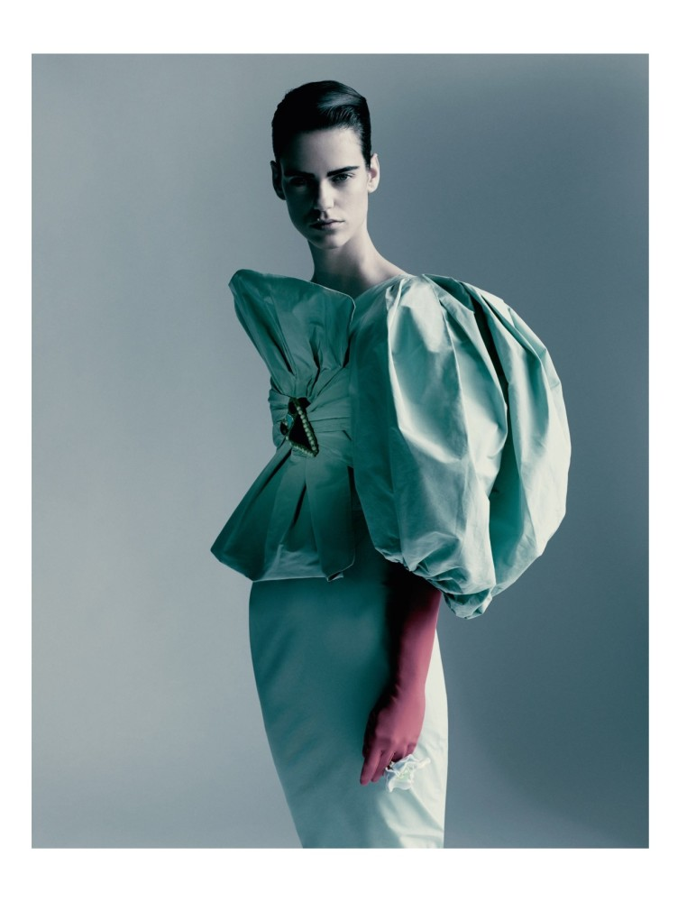 Miriam Sanchez for Vogue Paris shot by Paolo Roversi styling by Jacob K