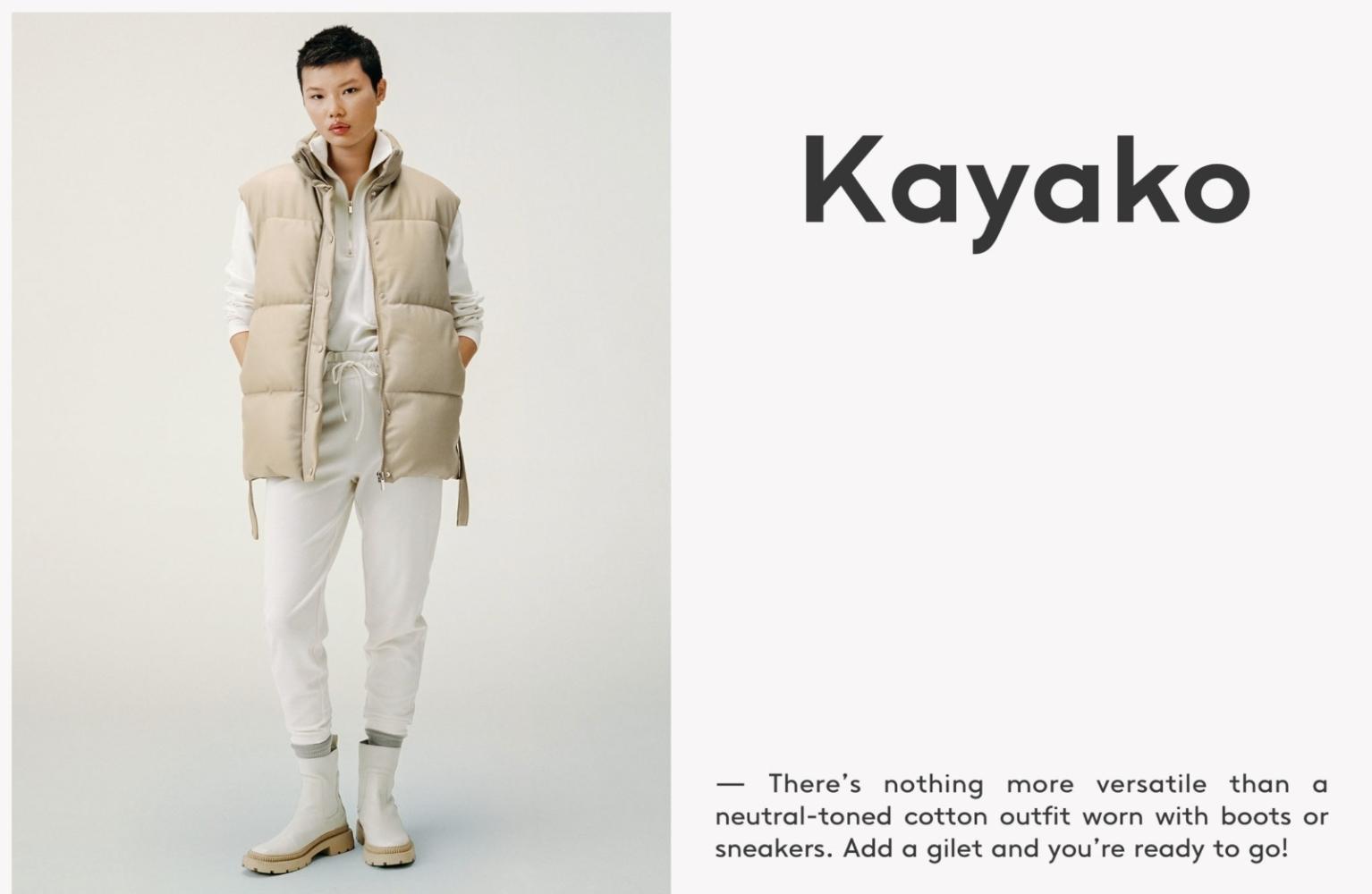 KAYAKO HIGUCHI for MANGO