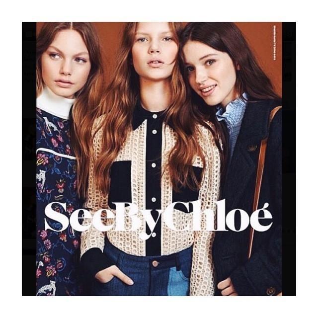 Anabel Krasnotsvetova for See By Cloe Fall 2015 Campaign