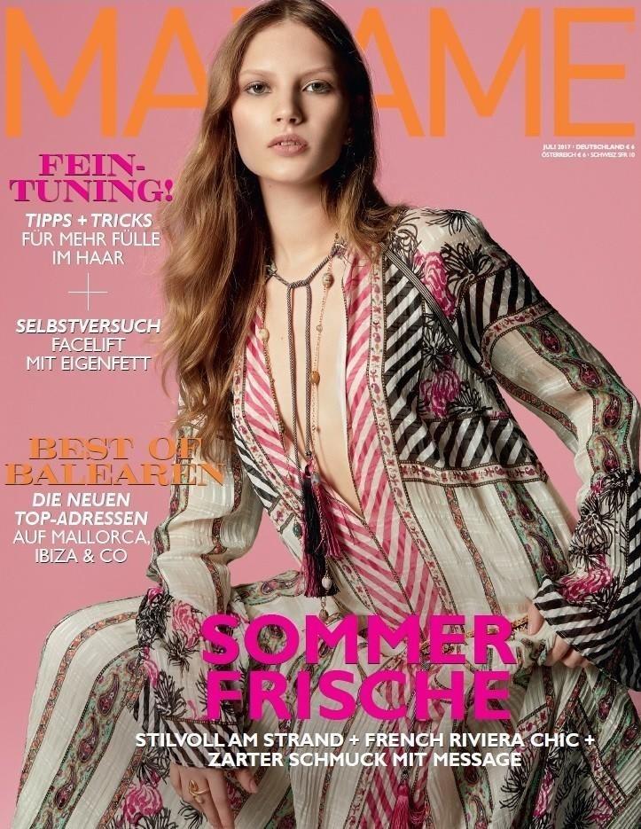 Cover girl Anabel Krasnotsvetova  for MADAME  (Germany) 07/2017