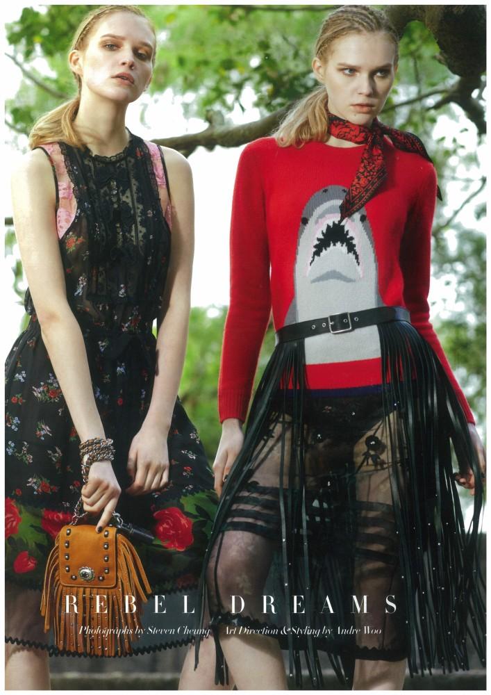 Dasha Vaka for REBEL DREAMS in Harper's Bazaar HongKong