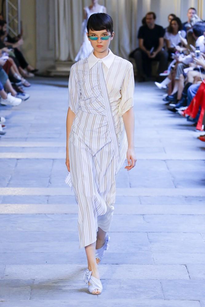 5d4f2d8c4e285 Anastasia Chekry in Milan Fashion Week SS 19