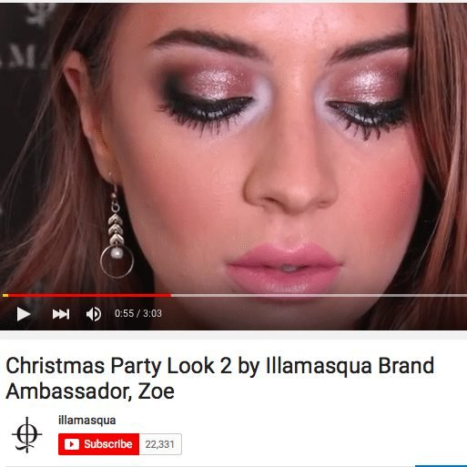 ILLAMASQUA book CHARLOTTE T for product commercial and 'How-To' video