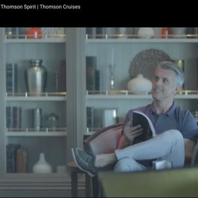 THOMSON book ANDY YOUNG for ' Spirit Cruise' Commercial